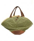 ebagos(エバゴス)の古着「帽体ハンドバッグ」|オリーブ×ブラウン