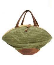 ebagos(エバゴス)の古着「帽体ハンドバッグ」 オリーブ×ブラウン