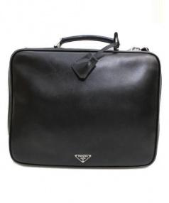PRADA(プラダ)の古着「ビジネスバッグ」|ブラック