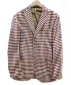 DEPETRILLO(デペトリロ)の古着「シルクウールジャケット」|レッド×ベージュ