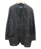 COMME des GARCONS HOMME(コムデギャルソンオム)の古着「製品染め3Bリネンジャケット」|ブラック