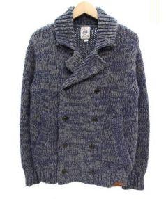 DIESEL(ディーゼル)の古着「ニットジャケット」|ネイビー