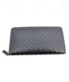 COMME CA MEN(コムサメン)の古着「ラウンドファスナー長財布」 ブラック