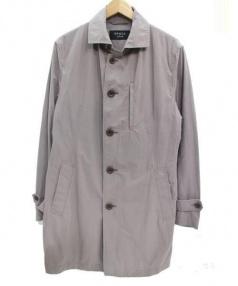 EPOCA UOMO(エポカ ウォモ)の古着「ステンカラーコート」|ライトグレー