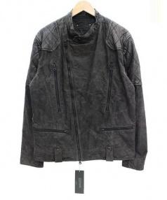 PLAGPLAG(プラグ)の古着「ラムレザー切替ジャケット」 ブラック