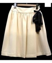 TO BE CHIC(トゥー ビー シック)の古着「膝丈スカート」|アイボリー