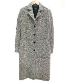 EPOCA(エポカ)の古着「ウールシングルコート」|ホワイト×ブラック