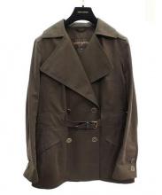 LOUIS VUITTON(ルイ・ヴィトン)の古着「ゴム引きトレンチコート」|ブラウン