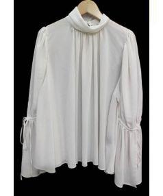 Lois CRAYON(ロイスクレヨン)の古着「フリルスリーブブラウス」|アイボリー