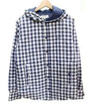 TOMMY HILFIGER(トミー ヒルフィガー)の古着「中綿ジャケット」 ホワイト×ブルー