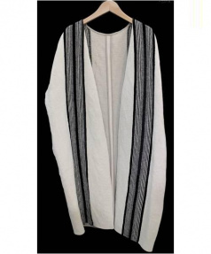 BEARDSLEY(ビアズリー)の古着「ガウンコート」|ホワイト×ブラック
