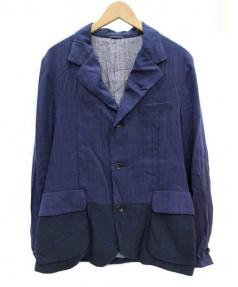 Kemit(ケミット)の古着「シルク・リネン混テーラードジャケット」|ネイビー