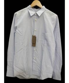 COMME des GARCONS HommePlus(コムデギャルソンオムプリュス)の古着「背面スタッズ切替長袖シャツ」|ブルー