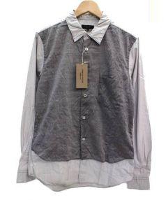 COMME des GARCONS HommePlus(コムデギャルソンオムプリュス)の古着「異素材張り合わせ製品染め長袖シャツ」|グレー