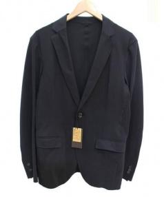 COMME CA MEN(コムサメン)の古着「ユーロジャージテーラードジャケット」|ブラック