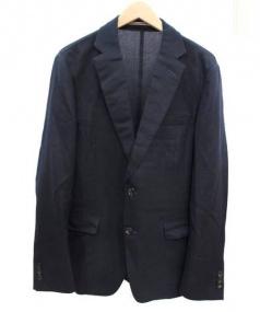 TOMORROW LAND(トゥモローランド)の古着「シルク混アンコンジャケット」|ネイビー