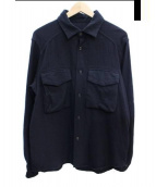 BRU NA BOINNE(ブルーナボイン)の古着「ウールワークシャツ」 ネイビー