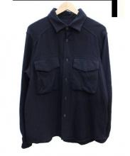 BRU NA BOINNE(ブルーナボイン)の古着「ウールワークシャツ」|ネイビー