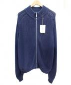 Della Ciana(デッラ チアナ)の古着「ニットブルゾン」|ネイビー