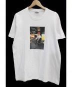 Supreme×COMME des GARCONS SHIRT(シュプリーム × コムデギャルソンシャツ)の古着「コラボスケータープリントTシャツ」 ホワイト