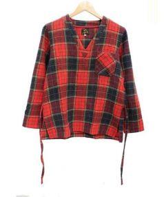 Needles(ニードルス)の古着「プルオーバーシャツ」|レッド