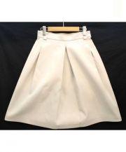 MACPHEE(マカフィー)の古着「ダブルクロストラベラーズロングスカート」|ベージュ