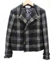 IENA(イエナ)の古着「ツイードジャケット」|ブラック×ホワイト