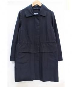 sunauna(スーナウーナ)の古着「3WAYステンカラーコート」|ネイビー