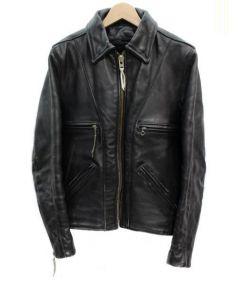 VANSON(バンソン)の古着「シングルレザージャケット」|ブラック