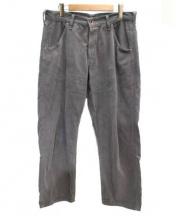 BRU NA BOINNE(ブルーナボイン)の古着「製品染めコーデュロイテーパードワイドパンツ」|グレー