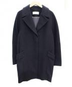 DES PRES(デ・プレ)の古着「ウールカシミヤメルトンコート」|ブラック