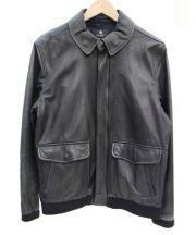 BEAUTY&YOUTH(ビューティアンドユース)の古着「ラムレザージャケット」|ブラック