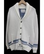 BAYFLOW(ベイフロー)の古着「コンチョボタンショールカラーカーディガン」 ホワイト