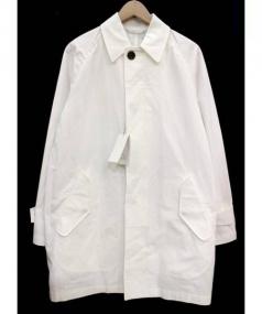 TOMORROW LAND(トゥモローランド)の古着「ステンカラーコート」|ホワイト