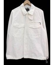 BLUE WORK(ブルーワーク)の古着「リネン混ワークジャケット」|ホワイト