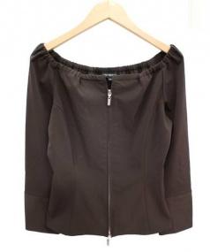FOXEY(フォクシー)の古着「ギャザーデザインジャケット」|カーキ