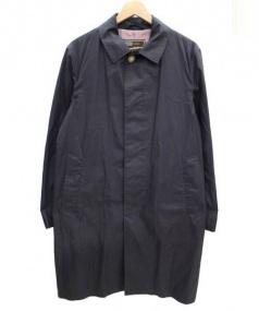 Traditional Weatherwear(トラディショナルウェザーウェア)の古着「コットンステンカラーコート」|ネイビー