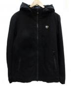 Francis T MOR.K.S(フランシストモークス)の古着「ハイビスカルフードジャケット」|ブラック
