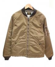 RADIALL(ラディアル)の古着「MA-1ジャケット」 ブラウン