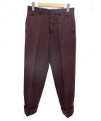 Black Fleece(ブラックフリース)の古着「センタープレスパンツ」|ボルドー