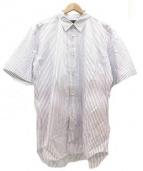 COMME des GARCONS HOMME DEUX(コムデギャルソンオムデュー)の古着「半袖シャツ」|ホワイト×ブルー