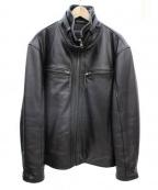 liugoo leathers(リューグーレザーズ)の古着「カウレザージャケット」 ブラウン