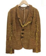V.W. GOLD LABEL(ヴィヴィアンウエストウッドゴールドレーベル)の古着「デザインニットセットアップ」|マスタード×レッド