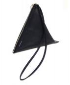 B印YOSHIDA×BEAMS(B印ヨシダ×ビームス)の古着「コラボ3WAY三角レザーポーチ」|ネイビー