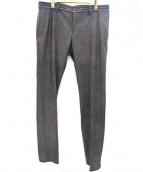 COMME CA MEN(コムサメン)の古着「センタープレスパンツ」 グレー