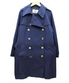 Kaon(カオン)の古着「トレンチコート」|ネイビー