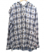 SUPREME(シュプリーム)の古着「Shadow Plaid Hooded shirt」|ブルー
