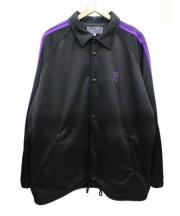 NEPENTHES×BEAMS(ネペンテス×ビームス)の古着「コラボコーチジャケット」|ブラック×パープル