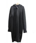 Black Fleece(ブラックフリース)の古着「フーデットニットコート」|グレー