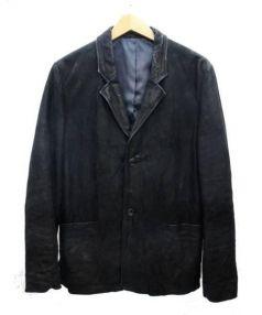 REAUMUR(レオミュール)の古着「バッファローレザー2Bテーラードジャケット」|ブラック